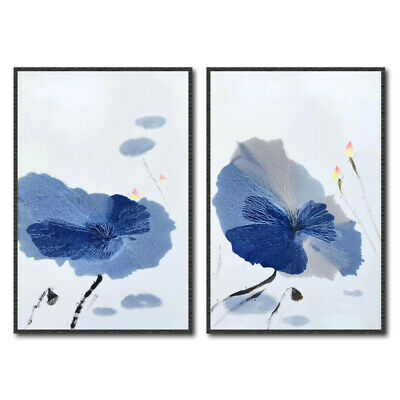 2pcs Flowers Art Canvas Oil Painting Picture Print Home Wall Decor Unframed HIW