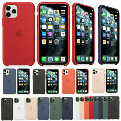 Genuine Official Silicone Slim Case Skin Cover For iPhone XS Max XR 8 7 6s Plus