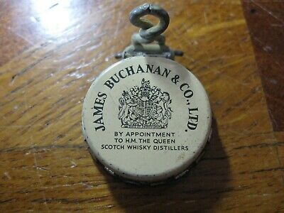 Ancien bouchon clips bouteille WHISKY JAMES BUCHANAN & Co. Ltd. BLENDED SCOTCH
