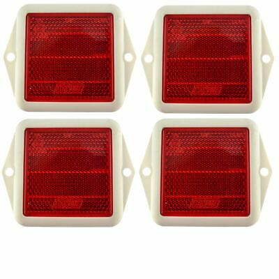 Red Reflector Square for Fence / Gate Posts Trailers 4 PACK TR215