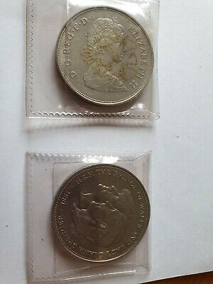 2x Prince Charles and Lady Diana wedding - Commemorative £5 Pound Coin - 1981