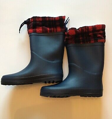 Marks And Spencer Kids Checked Wellies Size 3