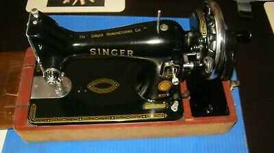 Vintage SINGER 99 Hand cranked sewing machine Very nice condition Bearings oiled