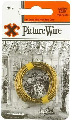 No.2 Brass Picture Wire, 3m - X 12836
