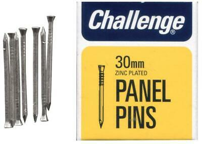 """1 1/4"""" (30mm) Zinc Plated Steel Panel Pins, 40g Pack - CHALLENGE"""