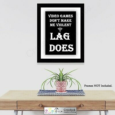 Gaming Angry Gamer Lag Photo Poster Print ONLY Wall Art A4