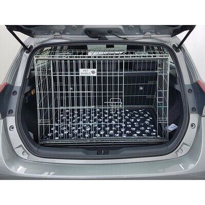 Pet World NEW TOYOTA AURIS 12-18 SLOPING CAR DOG CAGE BOOT TRAVEL PUPPY GUARD
