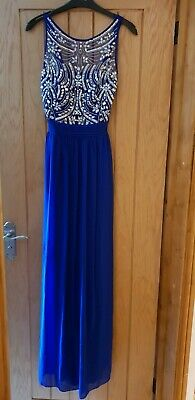 Ladies quiz long cobalt blue prom dress size 8