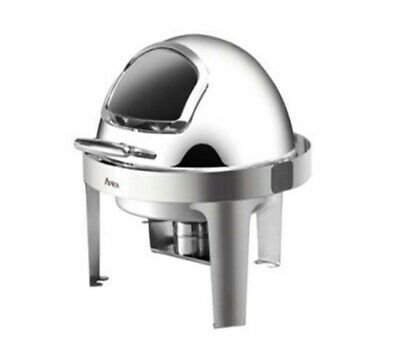 Quattro Round Roll Top Chafing Dish With Glass Window 6 ltr - Lowest Ever Price