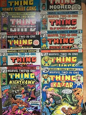 Marvel Two In One. Bronze Age Collection Lot. 16-47. 10 Issues. Most High Grade