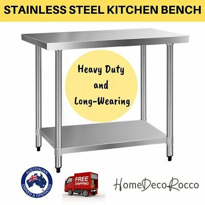 430 Stainless Steel Bench Table Top Commercial Kitchen Home Work food Grade Prep