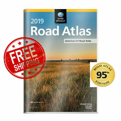 19 Rand McNally Road Atlas Protective VinylCover best selling atlas Travel Maps