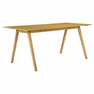 [en.casa]® Design Dining Table Bamboo 180x80 cm Dining Room Kitchen Table Wood
