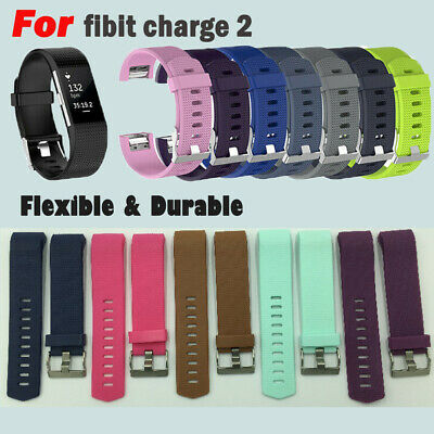 For Fitbit Charge 2/2 HR Replacement Silicone Bracelet Wrist Watch Band Strap