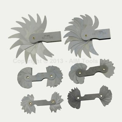 6PC SET OF RADIUS GAUGE FROM R0.3mm TILL 100mm