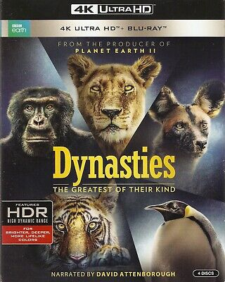 DYNASTIES:THE GREATEST OF THEIR KIND 4K ULTRA HD & BLURAY SET - BBC Planet Earth