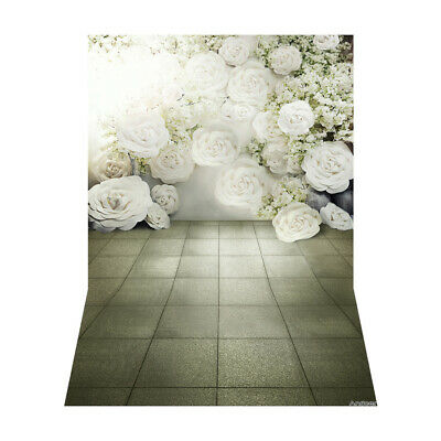 Andoer 1.5 * 2.1m/5 * 7ft White Blossoming Flower Photography Background G3N7