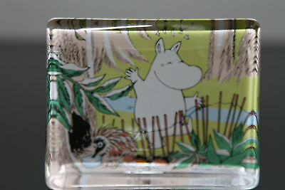 Iittala MOOMIN Glass Card / Paperweight / Glass Decoration 2002