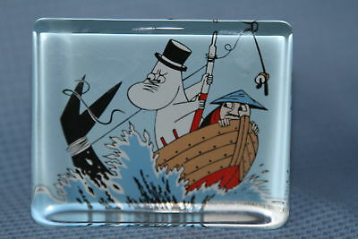 Iittala MOOMIN Glass Card / Paperweight / Glass Decoration