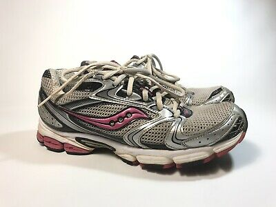 6a37225e Saucony Grid Stratos 5 Womens 9 Running Shoes Gray Pink Black Silver Worn  Once