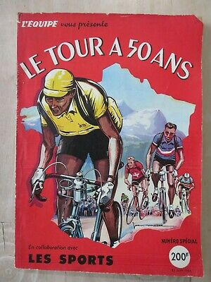 1953 Tour de France 50th birthday special magazine L'Equipe 192p top advertising