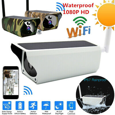 Solar Outdoor Security Camera 1080P 2MP IP Wireless WIFI IR Camera Night Vision