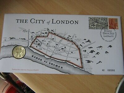 The City of London £1 Pound  BUNC Stamp & Coin Cover 2010