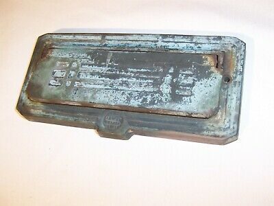 Antique Brass Bronze Prairie Style Arts & Crafts Letter Mail Slot Signed