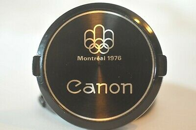 Canon FD C-55 55mm front lens cap Montreal 1976 Olympic vintage RARE collectible