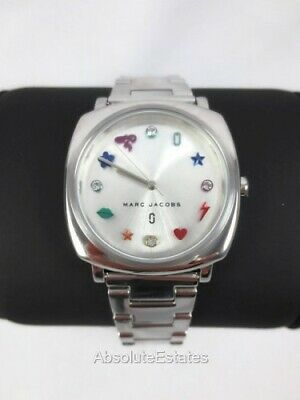 NEW Marc Jacobs Mandy Silver Tone Womens Stainless Steel Watch MJ3548 NWT Box