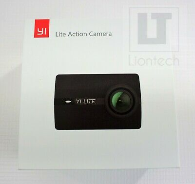 """YI Lite Action Camera 2"""" Touchscreen 150° Wide Angle Lens Action Camera Black"""
