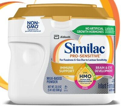 6x SIMILAC Pro-Sensitive Non-GMO HMO Infant Formula Milk Powder 23.2 oz 1.45 lb