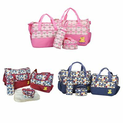 Waterproof Microfiber Cloth Hospital Bags 5pcs Baby Nappy Changing Handbag