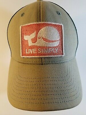 9ebbcca1 PATAGONIA LIVE SIMPLY WHALE Hat Kid's ALL Trucker Snapback Mesh Hat ...