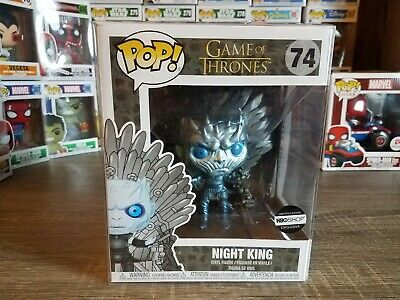 Funko PoP! HBO Exclusive Metallic Night King On Throne #74 NEW with Protector!