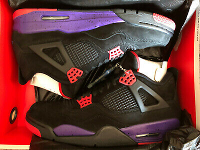 54516ef8f1a Nike Air Jordan 4 IV NRG Retro Raptors OVO Black Court Purple Size 11