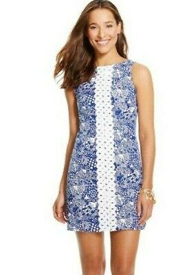 LILLY PULITZER FOR Target Blue Upstream Fish Spring Dress ~ Women\'s ...