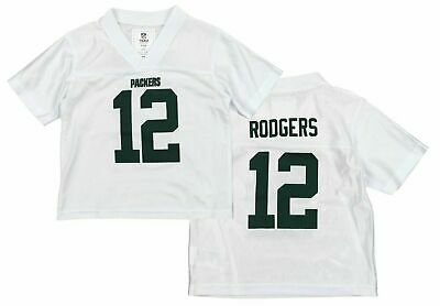 NFL Green Bay Packers Aaron Rodgers #12 Toddler Jersey White - Choose Size