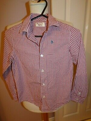 Superb Boys Designer Original Penguin Checked Shirt Uk 7 Years Rrp £40.00