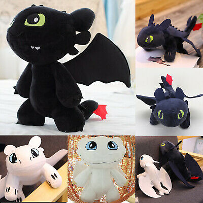 Toothless Light Night Fury Toys Teddy How to Train Your Dragon Plush Toy 25-35cm