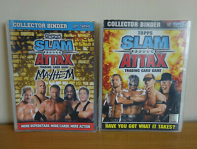 WWE Topps Slam Attax Trading Card Game Folder & Cards Bundle Wrestling