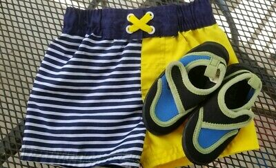 101e7c7dd8e55 Toddler Boy 12 month Cat & Jack Swim Trunks & Water Shoes The Childrens ...
