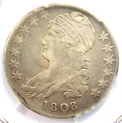 1808 Capped Bust Half Dollar 50C - Certified PCGS XF Details (EF) - Rare Coin!