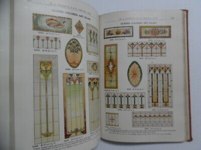 1913 Disbrow & Co Architectural Millwork Catalog Bungalow Home Art Glass Antique