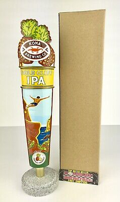 """Kona Brewing Co Gold Cliff IPA Beer Tap Handle 11.5"""" Tall - Brand New In Box!"""