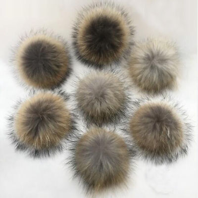 Fluffy Faux Raccoon Fake Fur Hair Huge Ball Pompom Pendant For Hat Bag Shoses