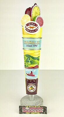 """Kona Brewing Company Hanalei Island IPA Beer Tap Handle 11"""" Tall - Excellent!"""