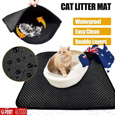 Double Layer Cat Litter Tray Trap Mat Catch Trapper Large House Box Pad Toilet