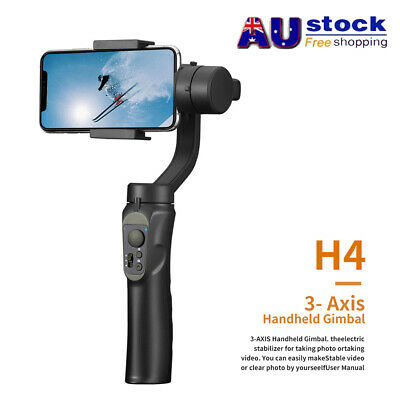 AU For Smart phone Gimbal Stabilizer 3-axis 360° Rechargeable Handheld Gimbal