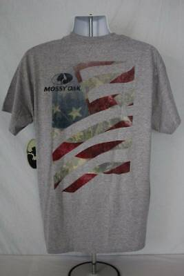 a2263099 Mens Mossy Oak T Shirt Large Graphic Tee USA American Flag Deer Hunting  Camo Top